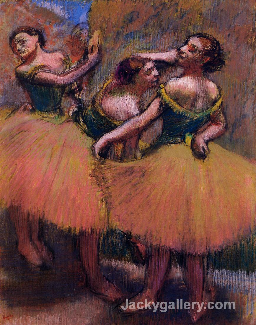 Three Dancers, Green Blouses by Edgar Degas paintings reproduction