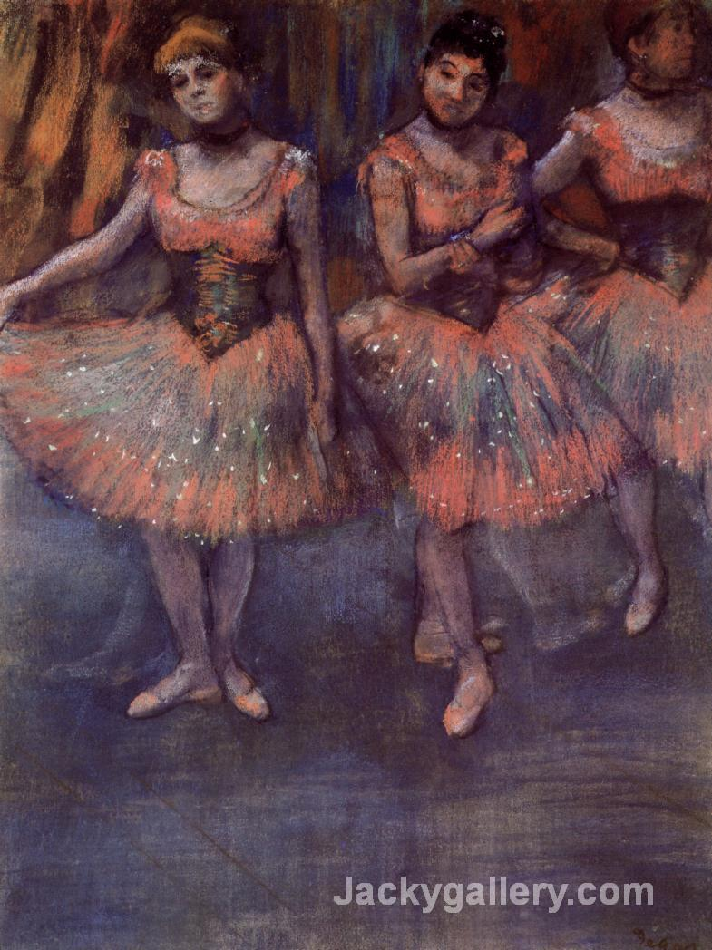 Three Dancers before Exercise by Edgar Degas paintings reproduction