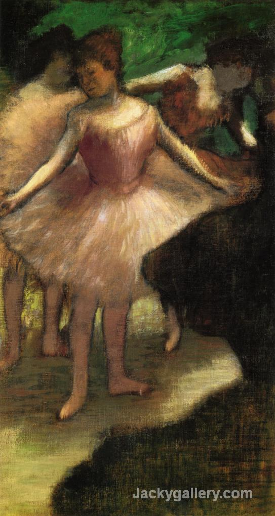 Three Dancers in Pink by Edgar Degas paintings reproduction