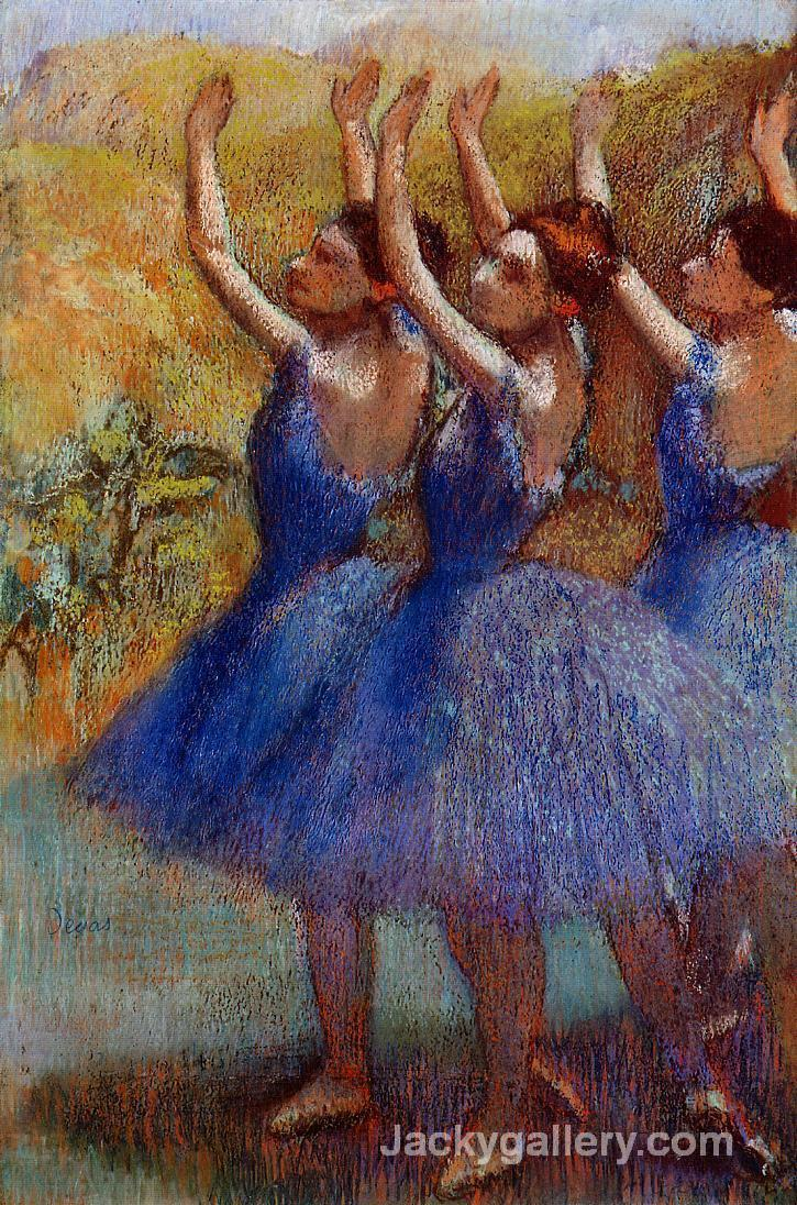 Three Dancers in Purple Skirts by Edgar Degas paintings reproduction