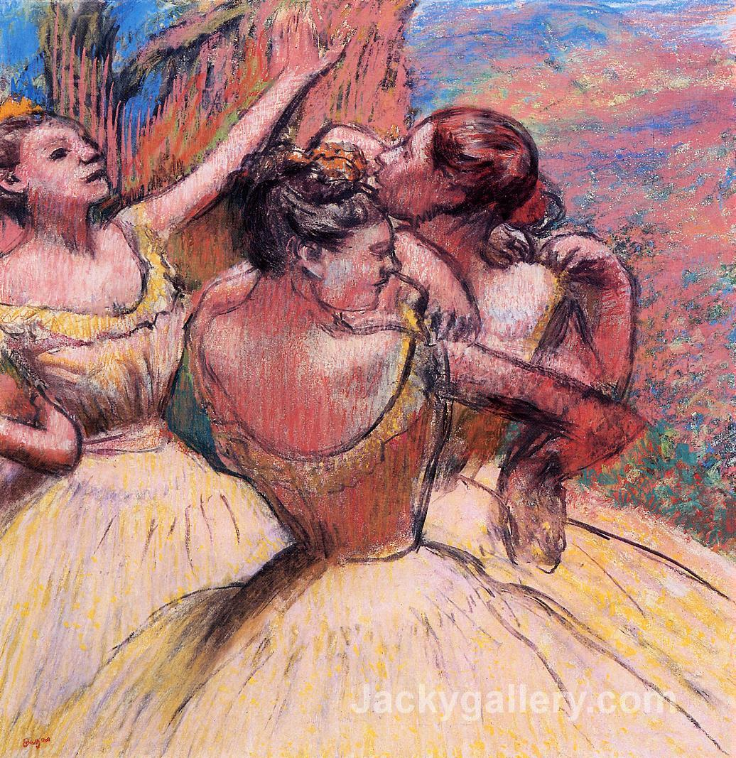 Three Dancers by Edgar Degas paintings reproduction