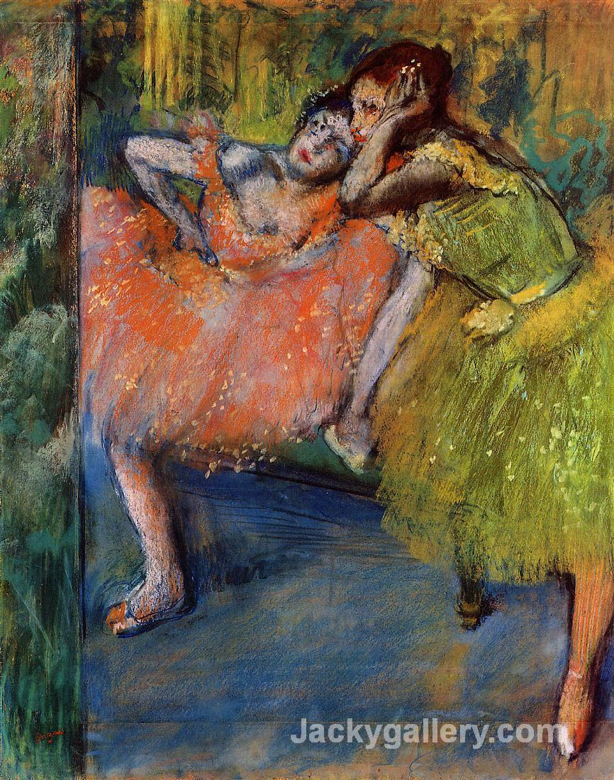 Two Dancers in the Foyer by Edgar Degas paintings reproduction