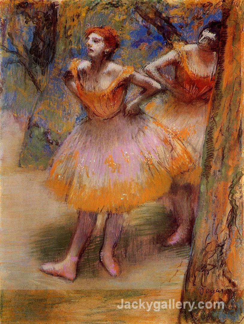 Two Dancers by Edgar Degas paintings reproduction