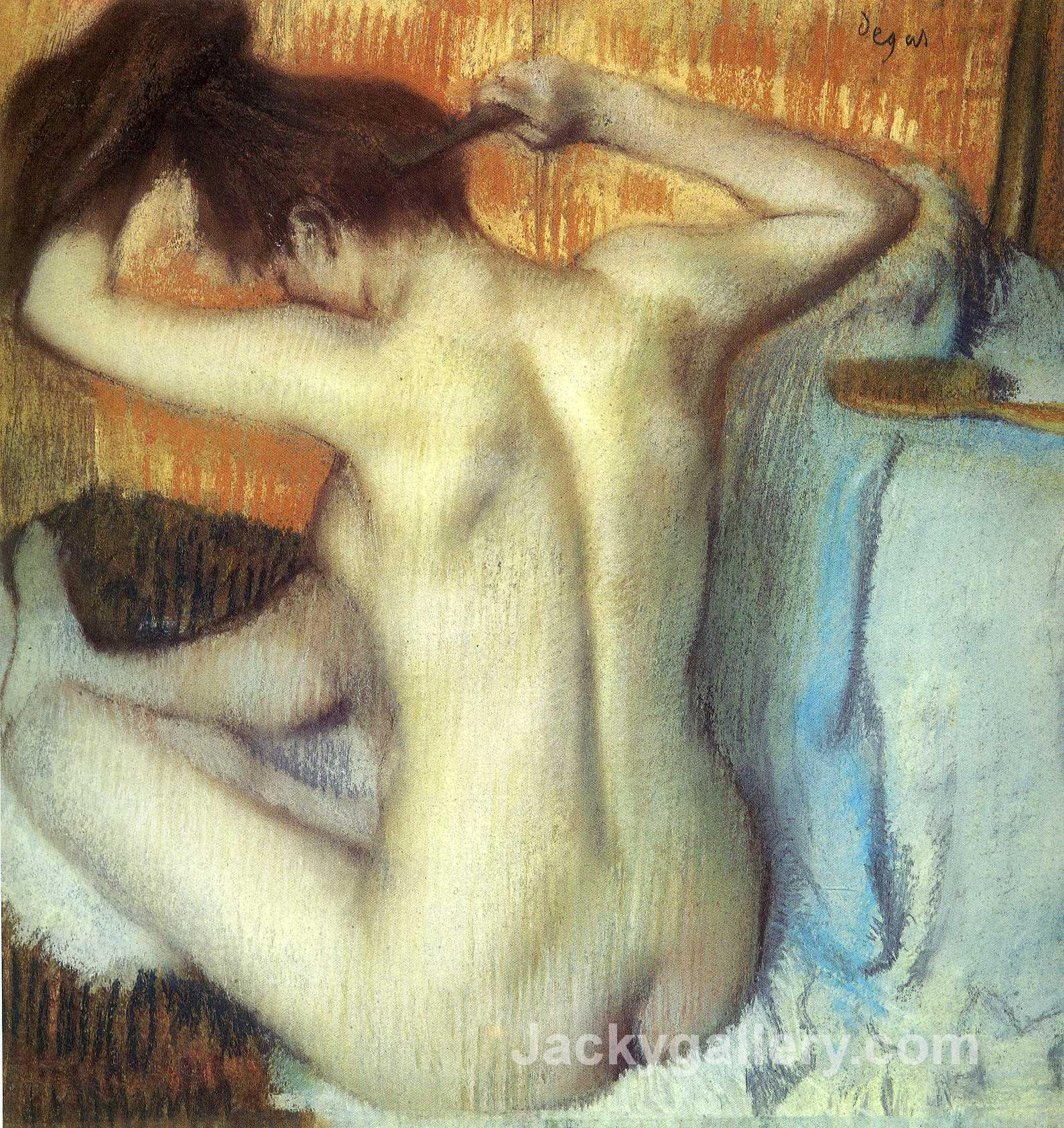 Woman Combing Her Hair by Edgar Degas paintings reproduction