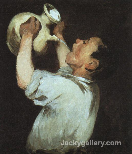 A boy with a pitcher by Edouard Manet paintings reproduction