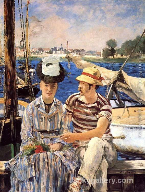 Argenteuil by Edouard Manet paintings reproduction