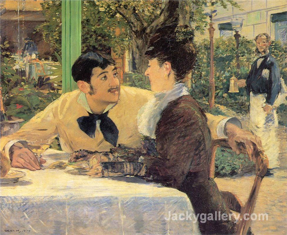 At Father Lathuille by Edouard Manet paintings reproduction