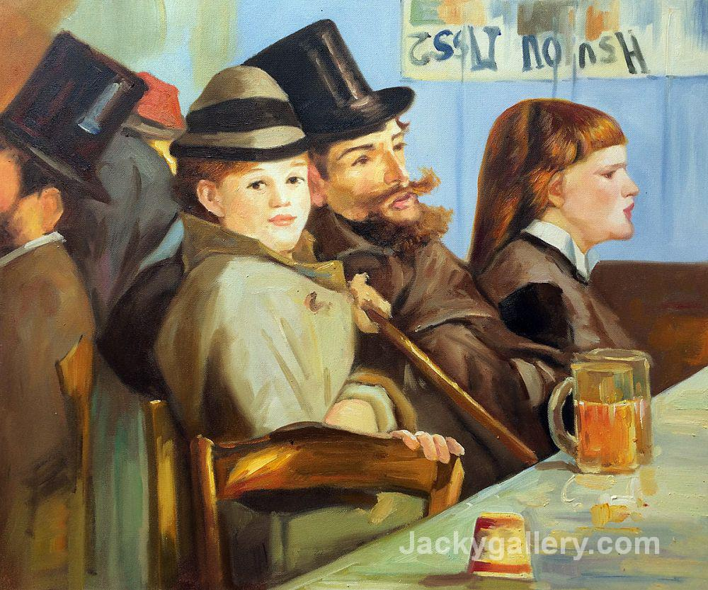 At The Cafe by Edouard Manet paintings reproduction