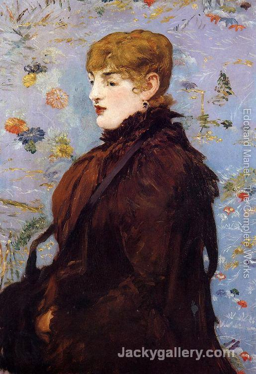 Autumn, Portait of Mery Laurent in a Brown Fur Cape by Edouard Manet paintings reproduction