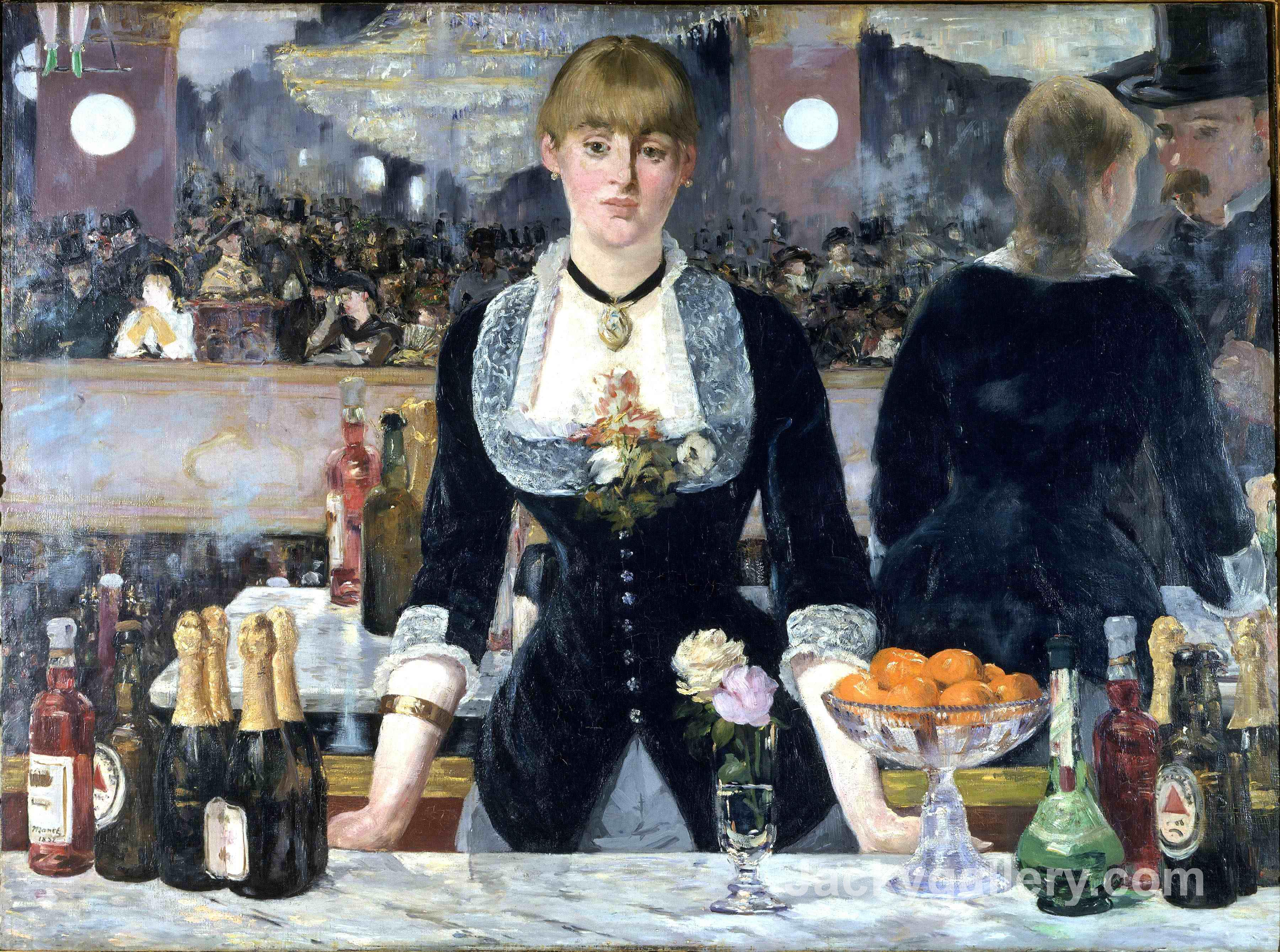 Bar at the Folies, Bergeres by Edouard Manet paintings reproduction