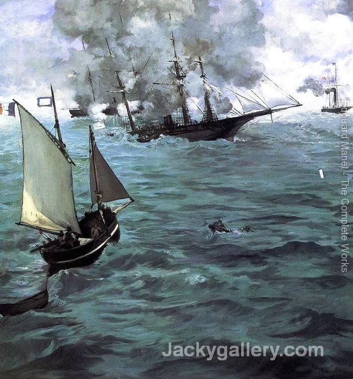 Battle of the Kearsarge and the Alabama by Edouard Manet paintings reproduction