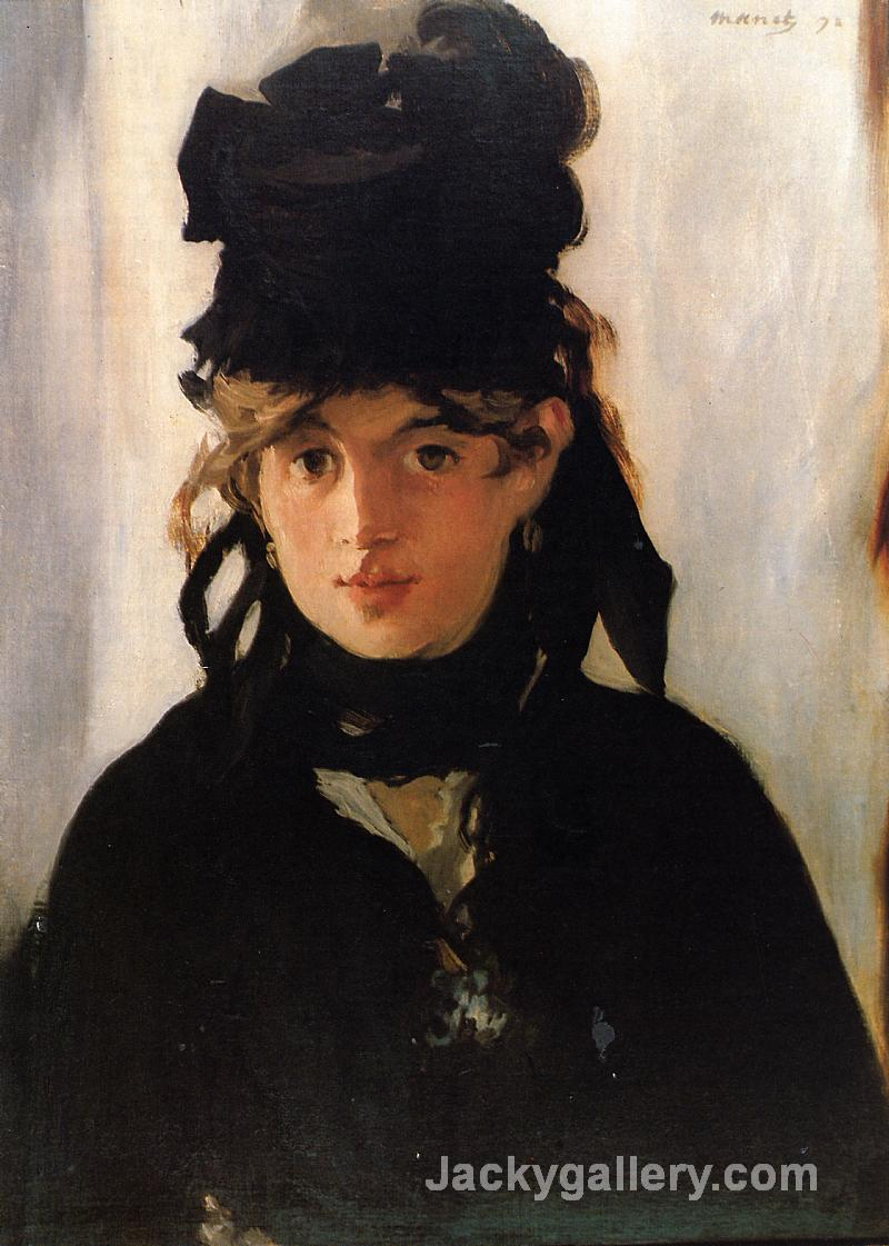 Berthe Morisot with a Bouquet of Violets.jpg by Edouard Manet paintings reproduction