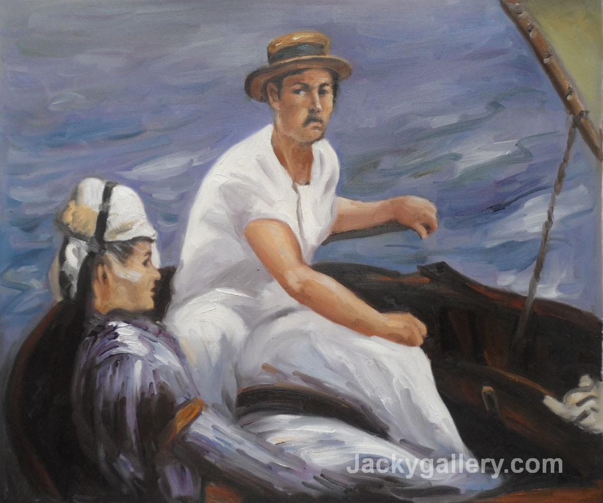 Boating man and woman by Edouard Manet paintings reproduction