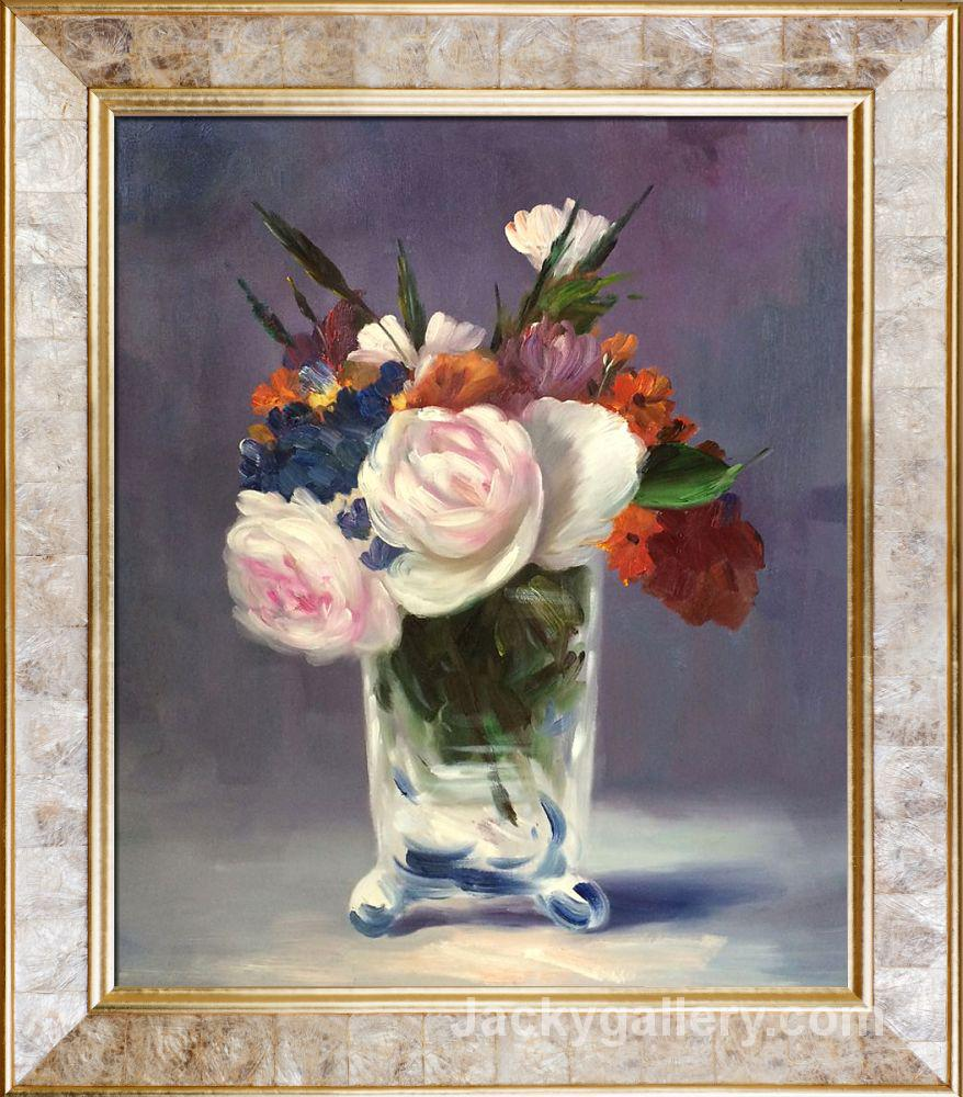 Flowers in a Crystal Vase by Edouard Manet paintings reproduction