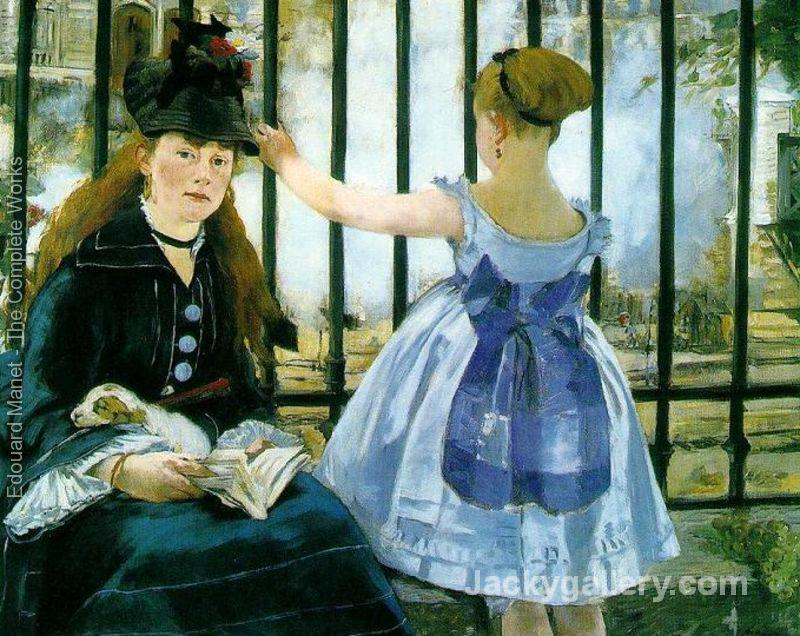 Gare Saint Lazare by Edouard Manet paintings reproduction