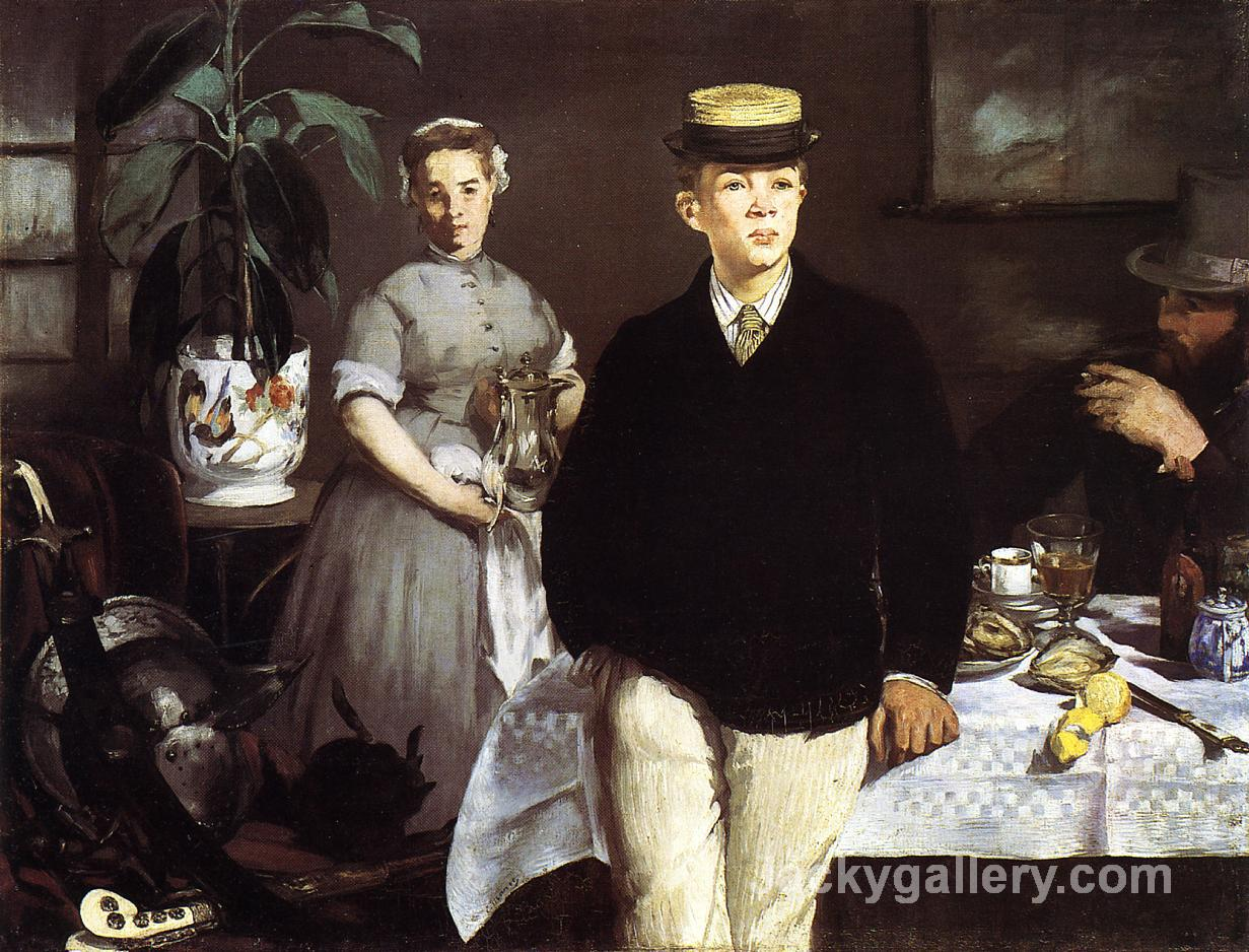 Luncheon in the Studio by Edouard Manet paintings reproduction