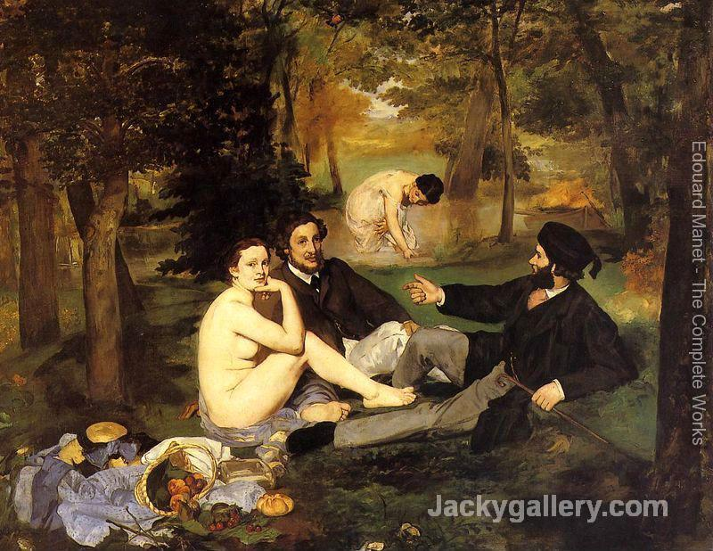 Luncheon on the Grass by Edouard Manet paintings reproduction