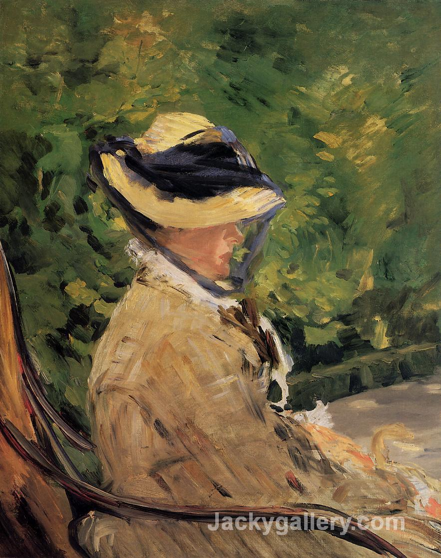 Madame Manet at Bellevue by Edouard Manet paintings reproduction