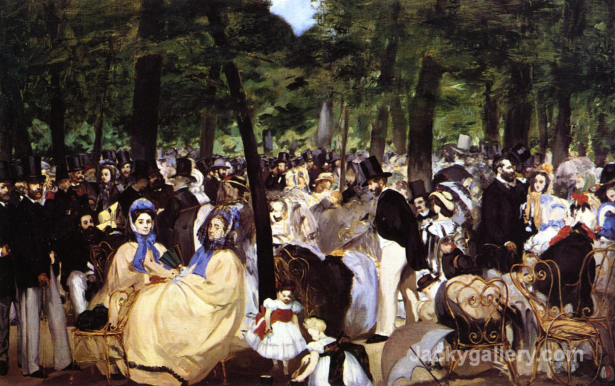 Music in the Tuileries Garden by Edouard Manet paintings reproduction
