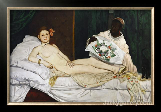 OLYMPIA- by Edouard Manet paintings reproduction