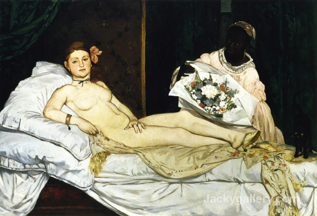 OLYMPIA by Edouard Manet paintings reproduction