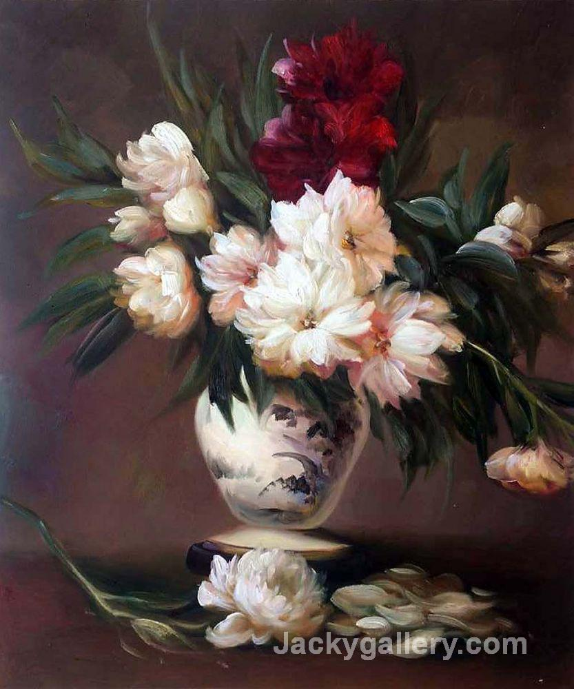 Peonies In A Vase by Edouard Manet paintings reproduction