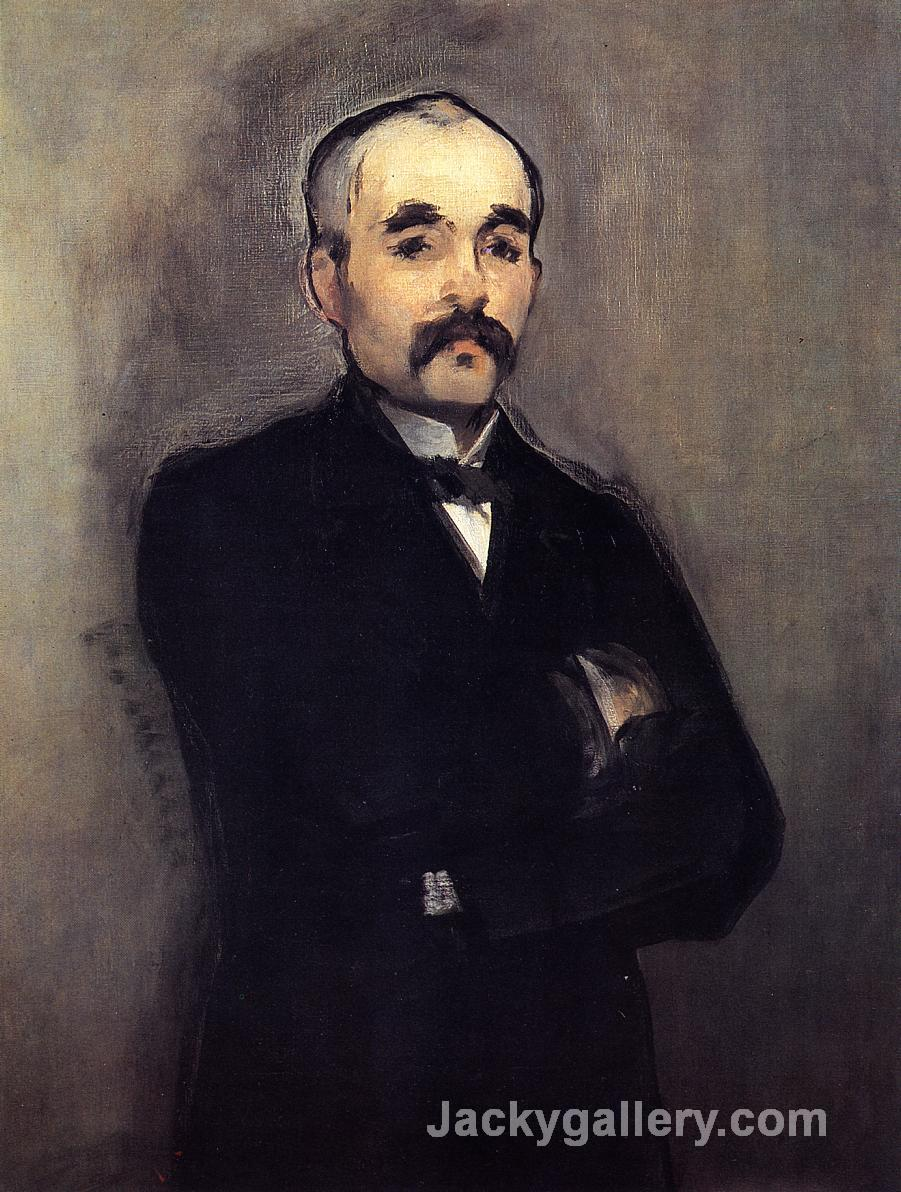 Portrait of Georges Clemenceau by Edouard Manet paintings reproduction