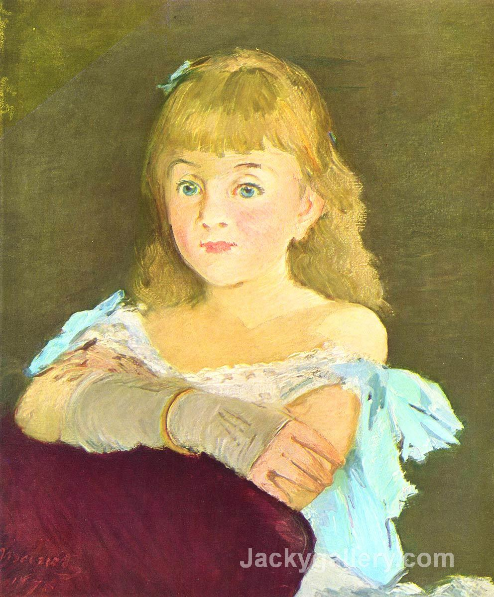 Portrait of Lina Campineanu by Edouard Manet paintings reproduction