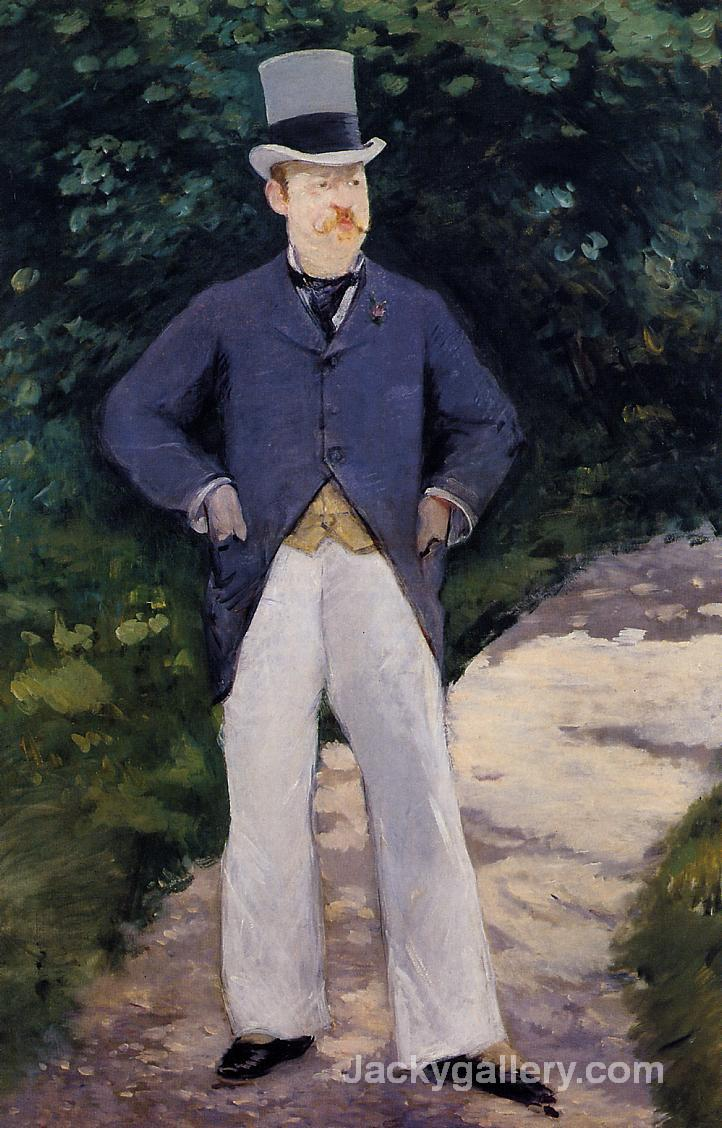 Portrait of Monsieur Brun by Edouard Manet paintings reproduction