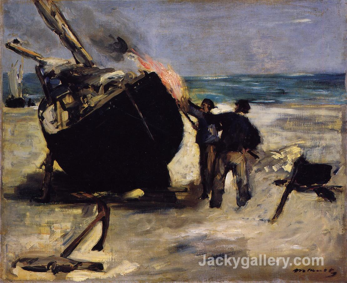 Tarring the Boat by Edouard Manet paintings reproduction