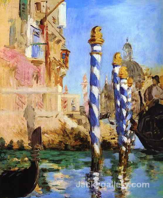 The Grand Canal by Edouard Manet paintings reproduction
