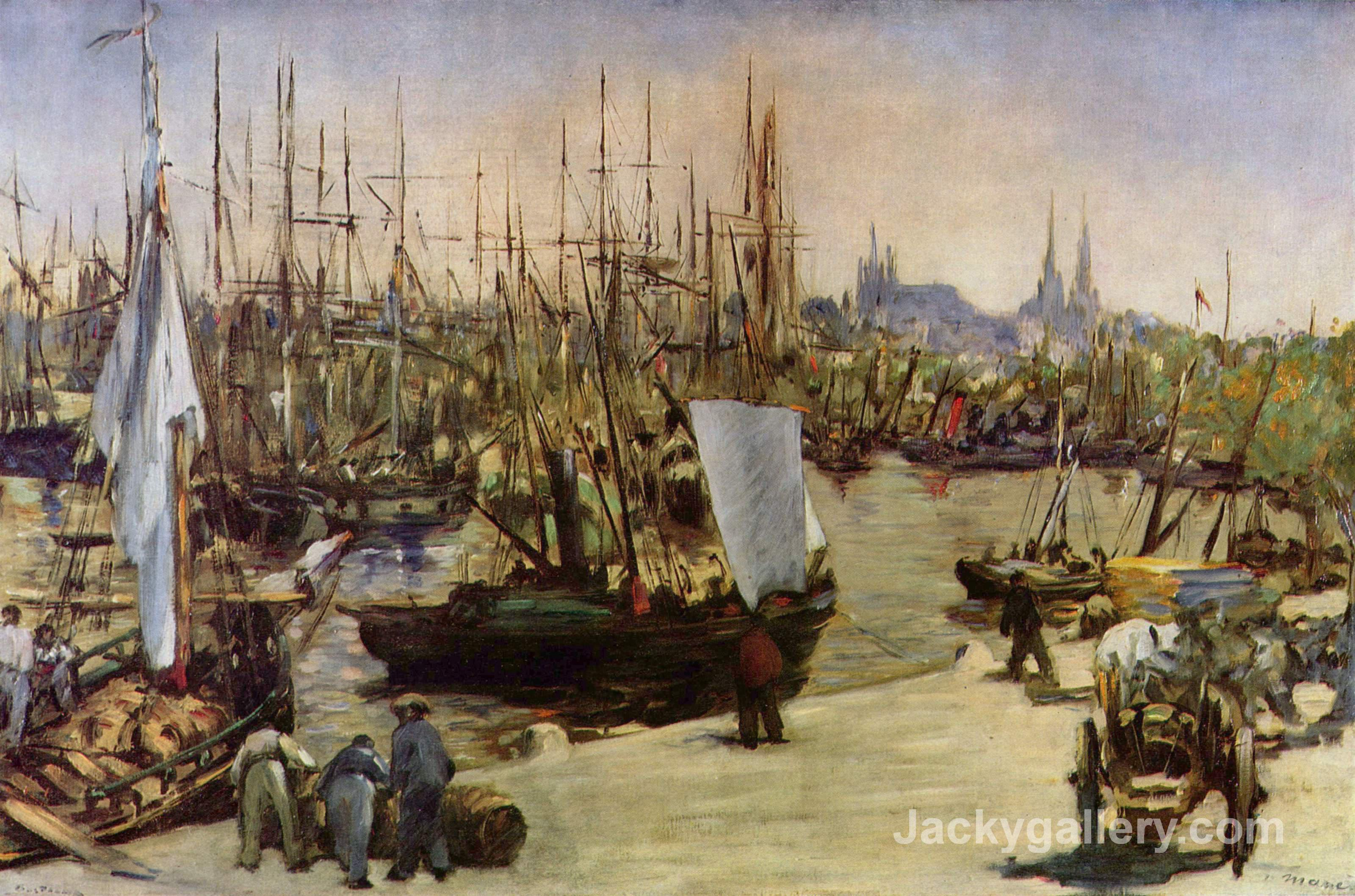 The Port of Bordeaux by Edouard Manet paintings reproduction
