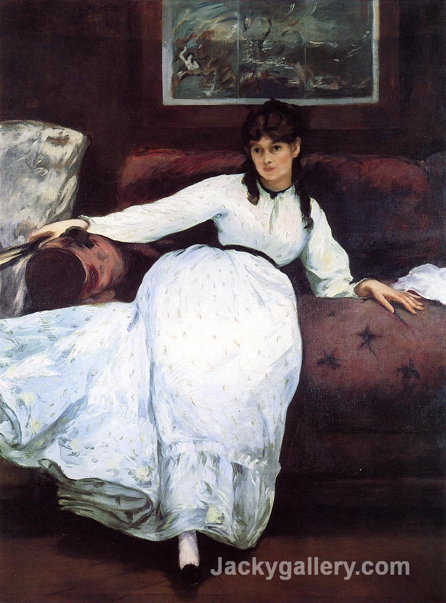 The Rest, portrait of Berthe Morisot by Edouard Manet paintings reproduction