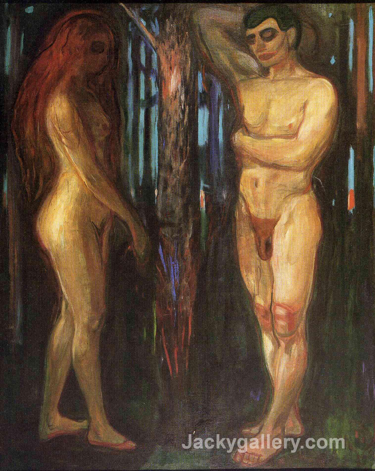 Adam and Eve by Edvard Munch paintings reproduction