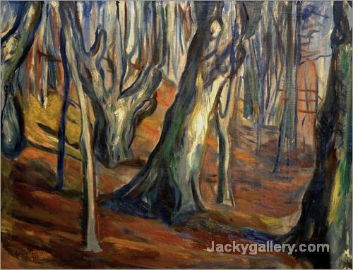 Autumn (Old trees, Ekely) by Edvard Munch paintings reproduction