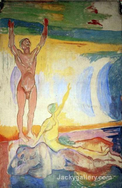 Awakening Men by Edvard Munch paintings reproduction