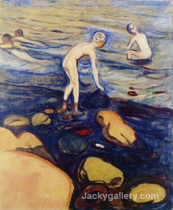 Bathing Boys by Edvard Munch paintings reproduction