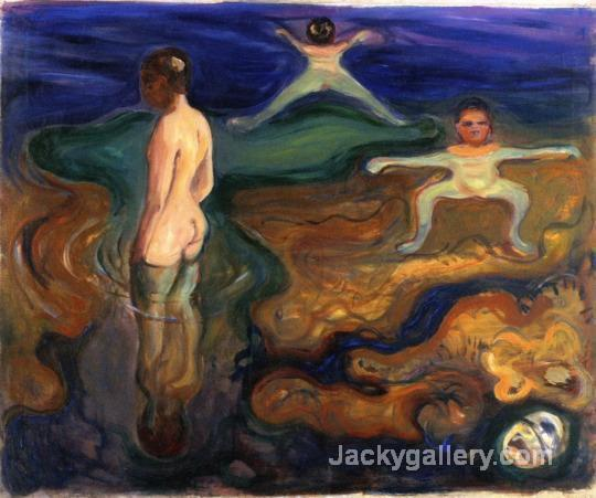Bathing Boys c. by Edvard Munch paintings reproduction