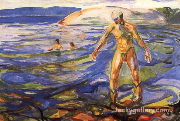 Bathing Man by Edvard Munch paintings reproduction