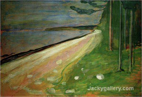 Beach near Asgardstrand by Edvard Munch paintings reproduction