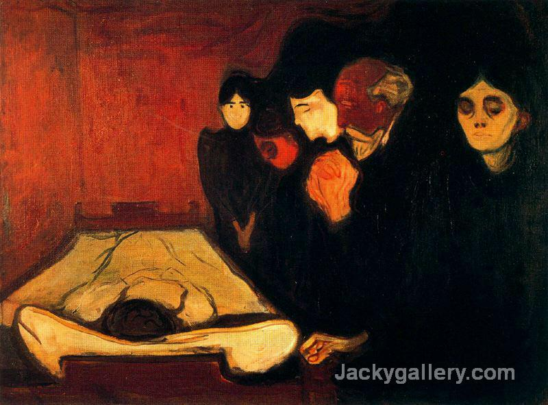 By the Deathbed (Fever) by Edvard Munch paintings reproduction
