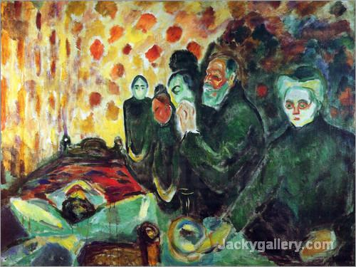 By the Deathbed by Edvard Munch paintings reproduction