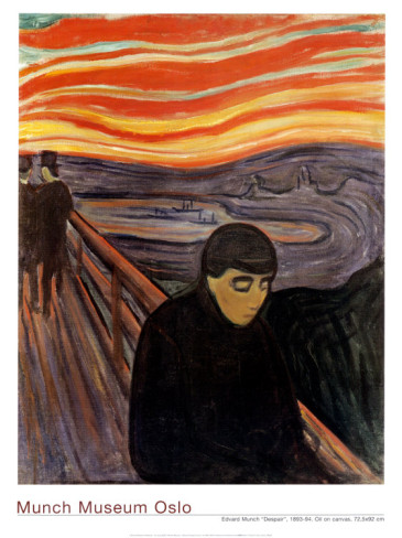 Despair, 1894 by Edvard Munch