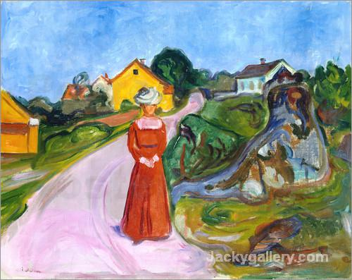 Dorfstrabe in Aasgaardstrand by Edvard Munch paintings reproduction