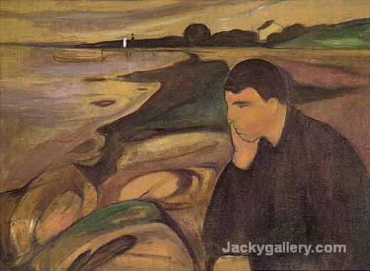 Edvard Melancholy by Edvard Munch paintings reproduction