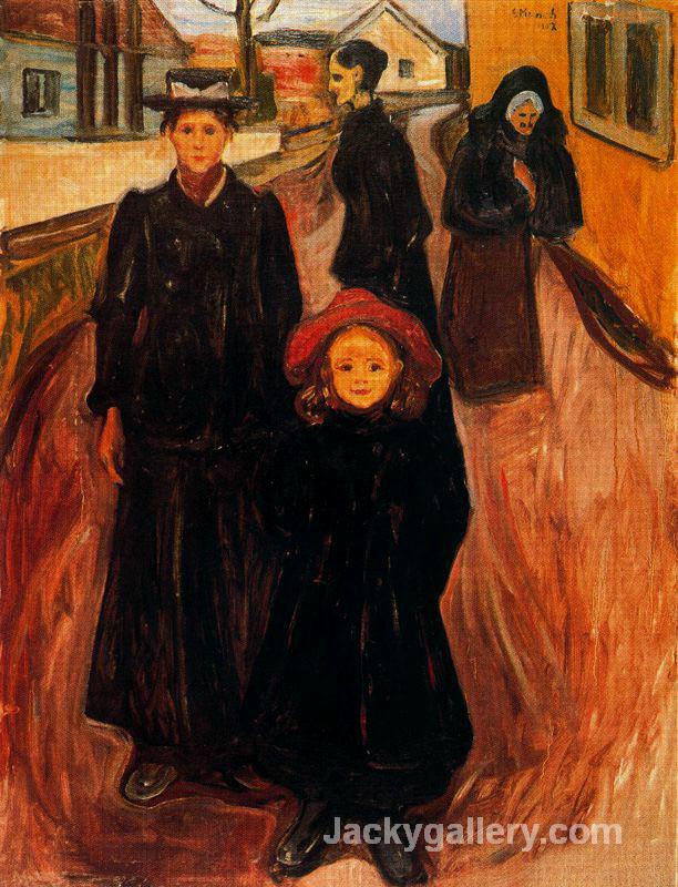 Four Ages in Life by Edvard Munch paintings reproduction