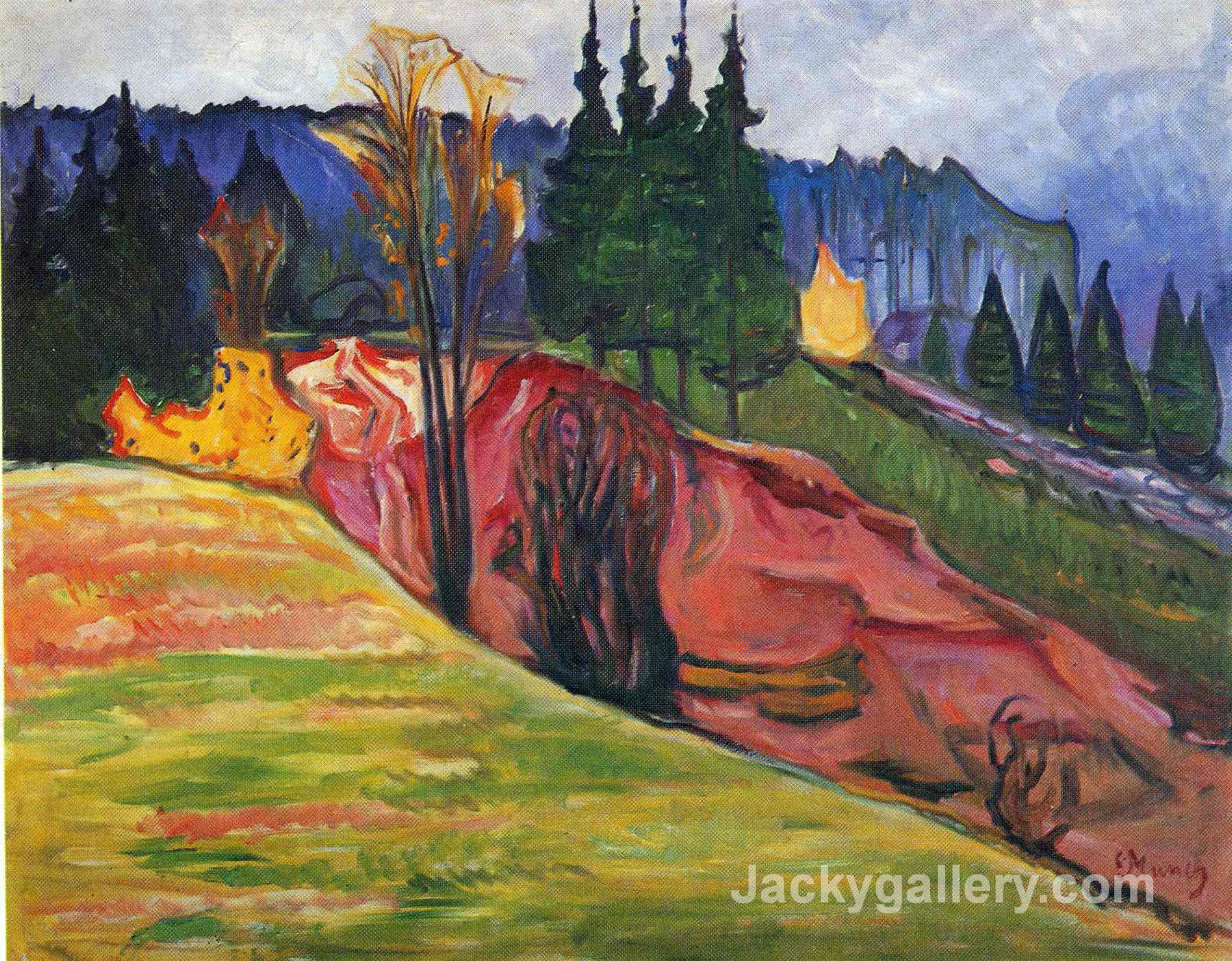 From Thuringewald by Edvard Munch paintings reproduction