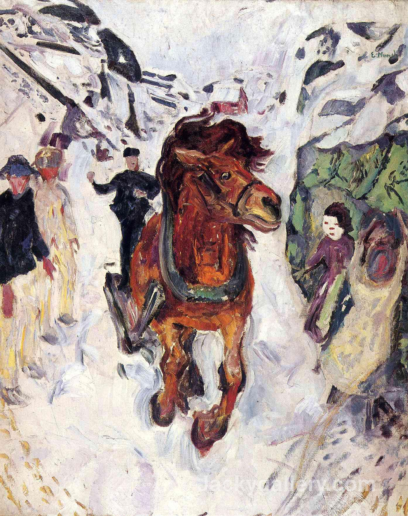 Galloping horse by Edvard Munch paintings reproduction