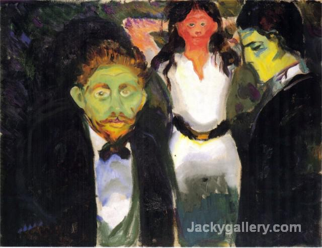 Jealousy by Edvard Munch paintings reproduction