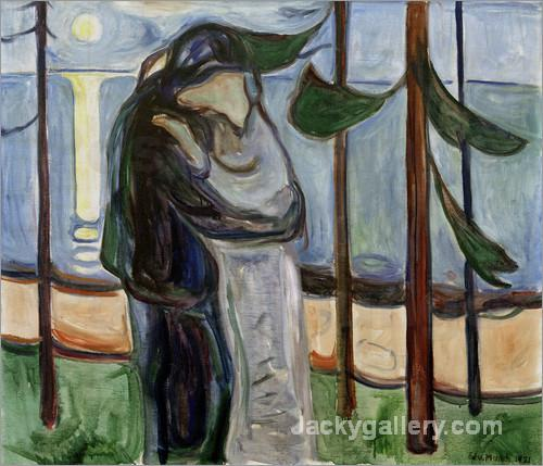 Kiss on the beach by Edvard Munch paintings reproduction